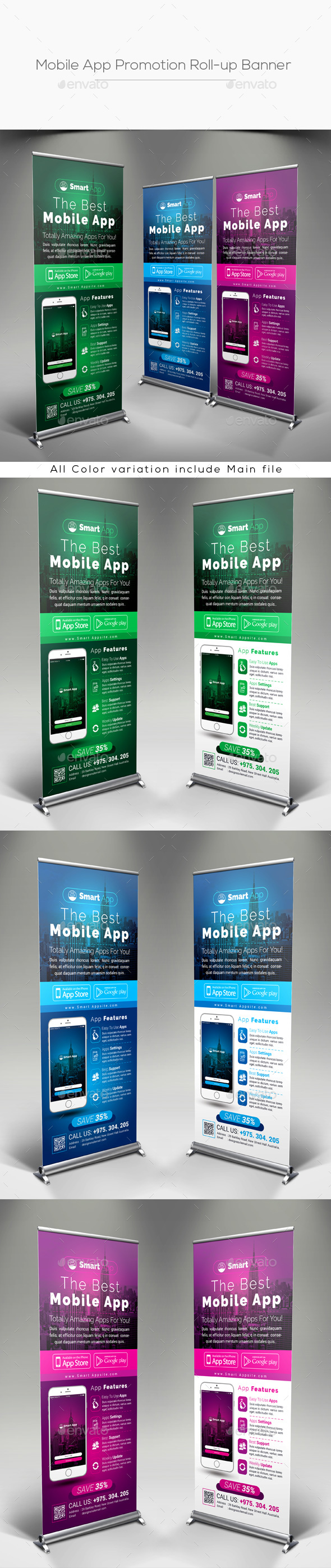 GraphicRiver Mobile App Promotion Roll-up Banner 20824561