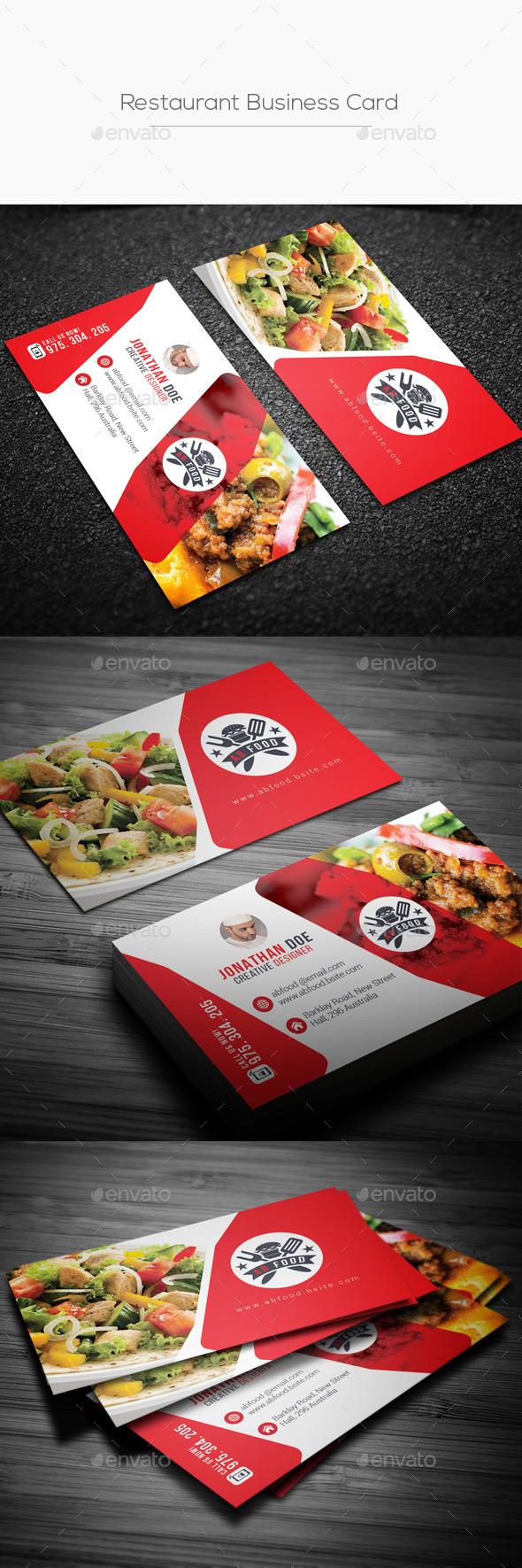 GraphicRiver Restaurant Business Card 20824578