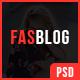 FasBlog - Blog PSD Template
