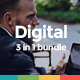 Clean Digital Bundle - 3 in 1 Business Powerpoint Template