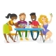 Young Multiethnic Friends Hanging Out Together. - GraphicRiver Item for Sale