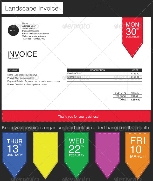 Label Style Invoice - Proposals & Invoices Stationery