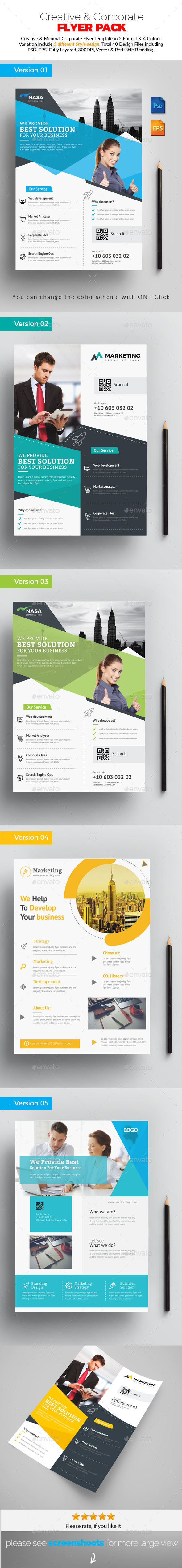 GraphicRiver Flyer Pack Template 20825254