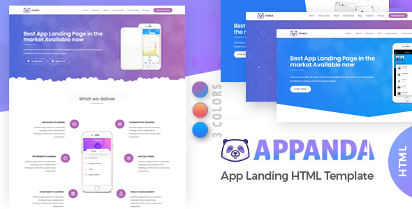 Appanda App Landing Page - Technology Site Templates