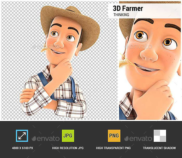 GraphicRiver 3D Farmer Thinking 20825287