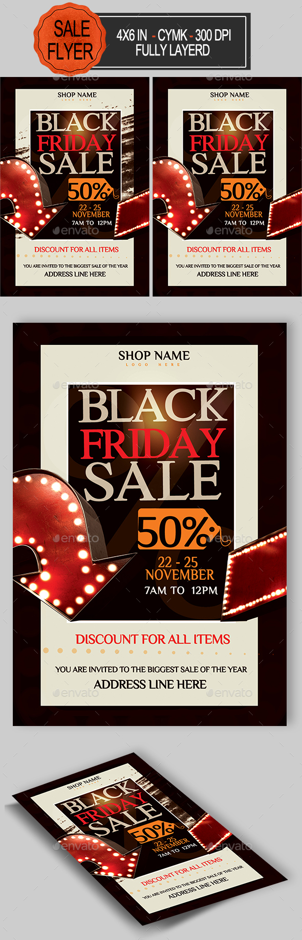 GraphicRiver Black Friday Sale Flyer 20825309