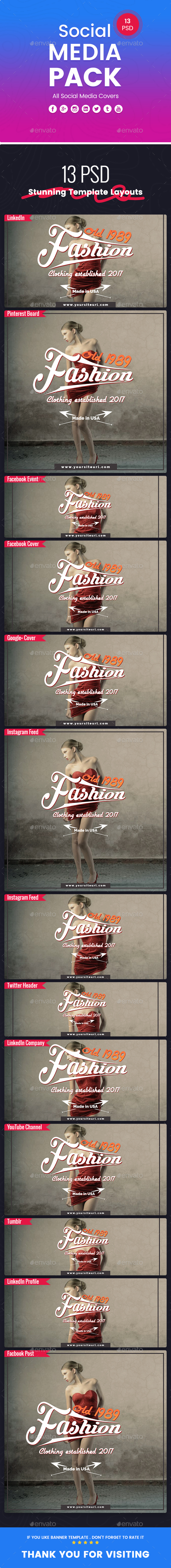 Fashion - Social Media Pack