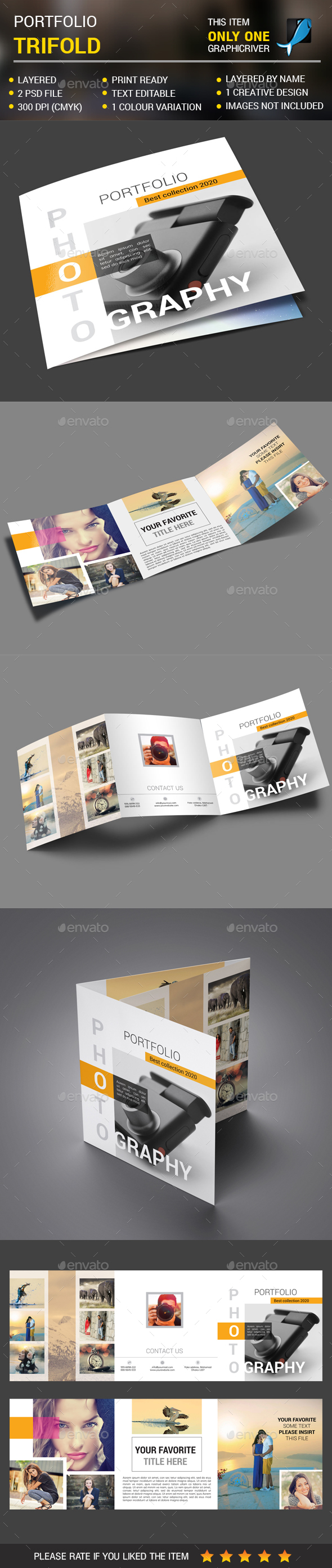 Photography Square trifold - Portfolio Brochures