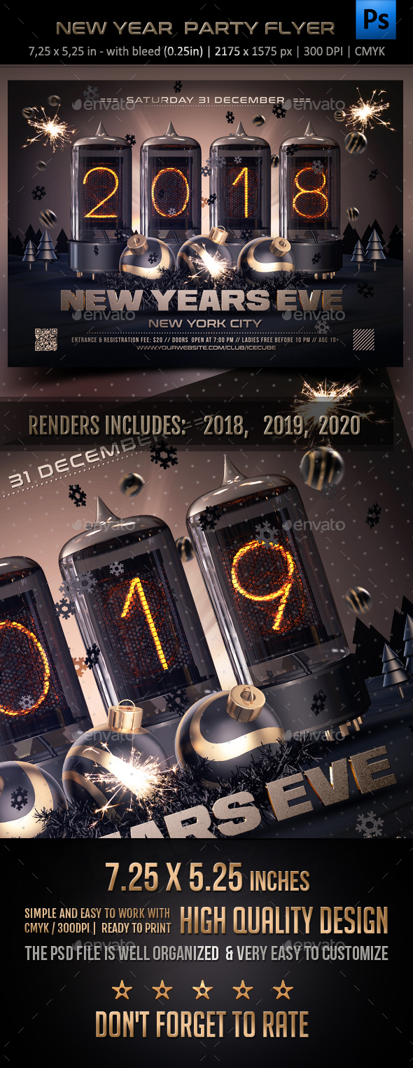 GraphicRiver New Year Celebration Party Flyer 20825948