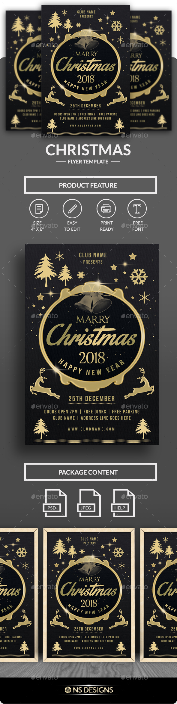 GraphicRiver Christmas Party Flyer 20825955