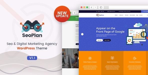 SeoPlan & Digital Marketing Agency WordPress Theme
