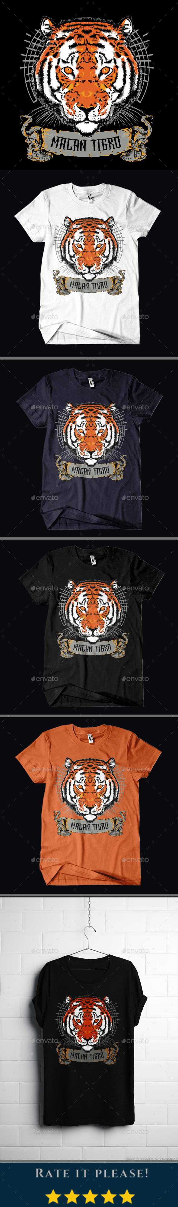 GraphicRiver Macan Tigro T-shirt Design 20826334