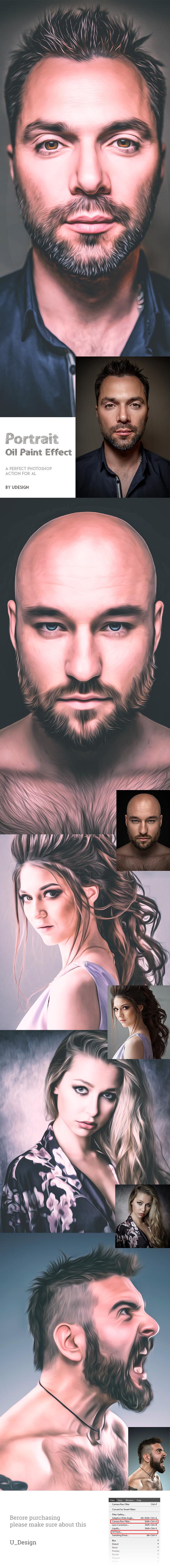 GraphicRiver Portrait Oil Paint Effect 20826363