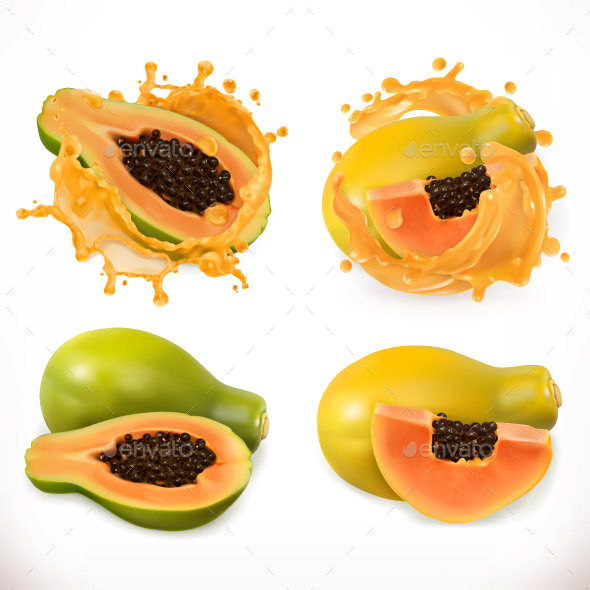 GraphicRiver Papaya Juice Fresh Fruit 20826391
