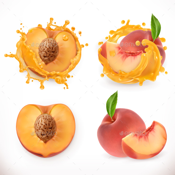 Peach Juice - Food Objects