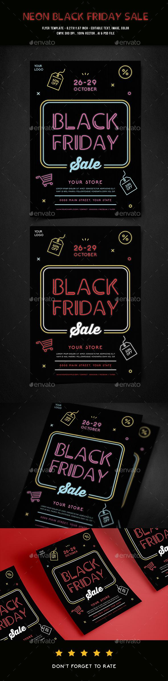 GraphicRiver Black Friday Sale Flyer 20826437