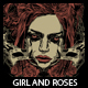 Girl And Roses T-shirt Design - GraphicRiver Item for Sale
