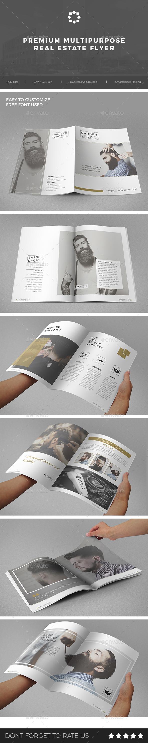 GraphicRiver Multipurpose Barbershop Brochure 20806172