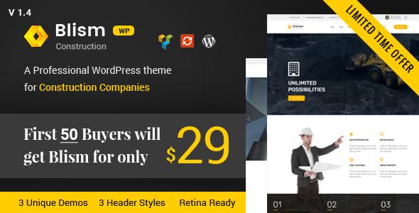 Image of Blism – Construction WordPress Theme