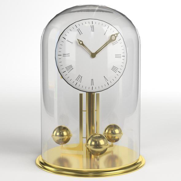 Vintage Brass Clock - 3DOcean Item for Sale