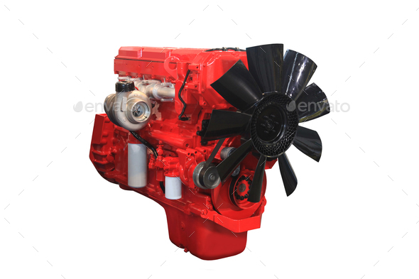 powerful diesel engine - Stock Photo - Images