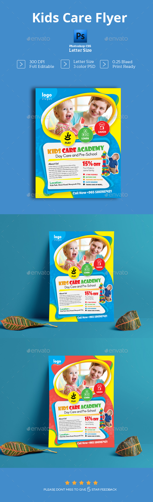 GraphicRiver Kids Care Flyer 20826672
