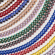 Background of colorful beaded necklaces made with traditional Romanian glass bead - PhotoDune Item for Sale