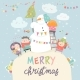 Happy Children Celebrating Christmas - GraphicRiver Item for Sale