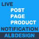 Live Post Page Product Notification
