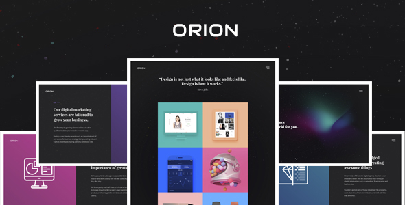 Orion – Digital Agency HTML Template