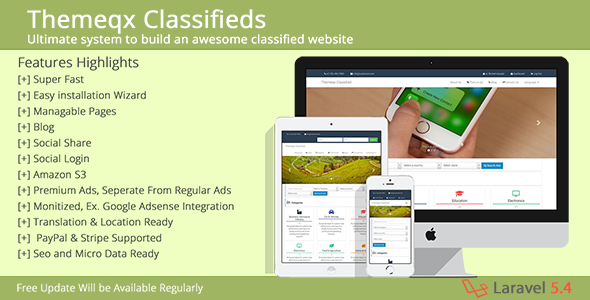 Themeqx Advanced PhP Laravel Classified ads cms - CodeCanyon Item for Sale