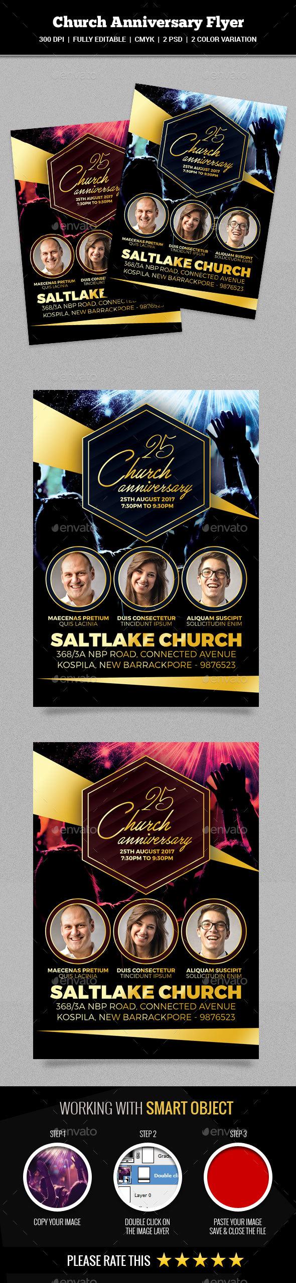 GraphicRiver Church Anniversary Flyer 20827008
