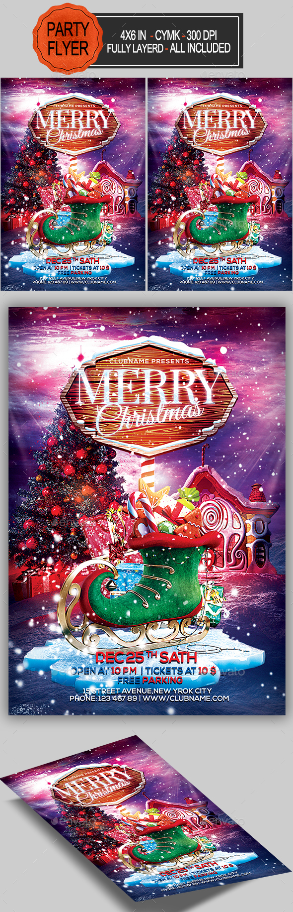 GraphicRiver Merry Christmas Flyer 20827059