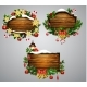 Vector Wooden Christmas Board - GraphicRiver Item for Sale