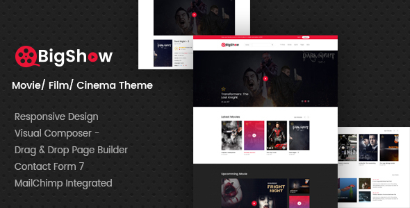 ThemeForest BigShow WordPress Cinema & Movie Theme 20723115