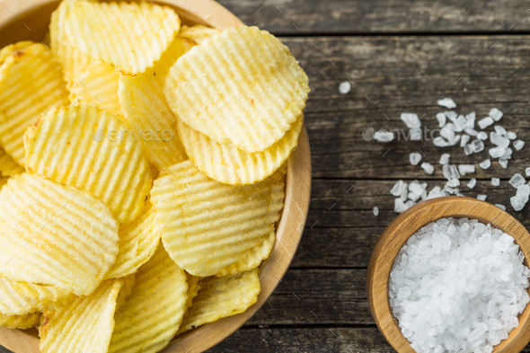 Crispy potato chips. - Stock Photo - Images