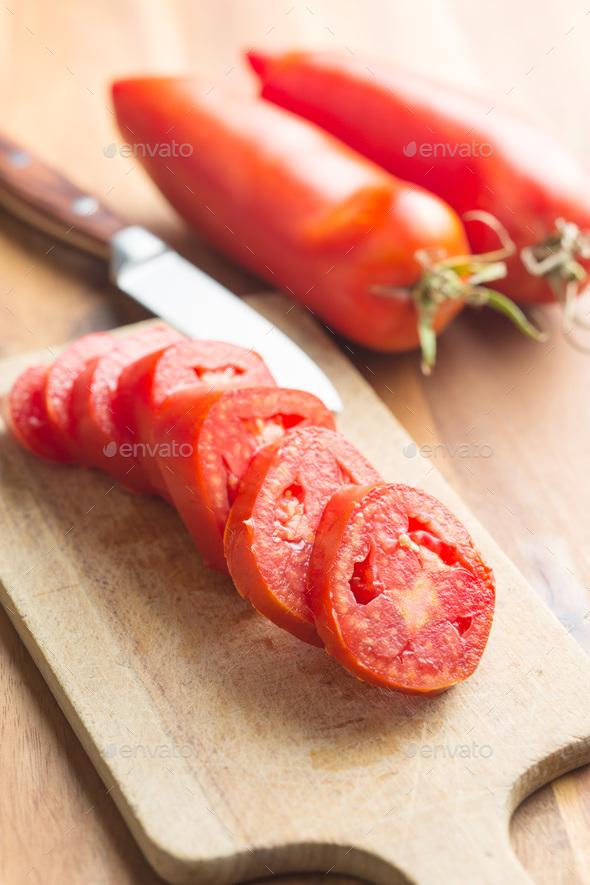 San marzano tomatoes. - Stock Photo - Images