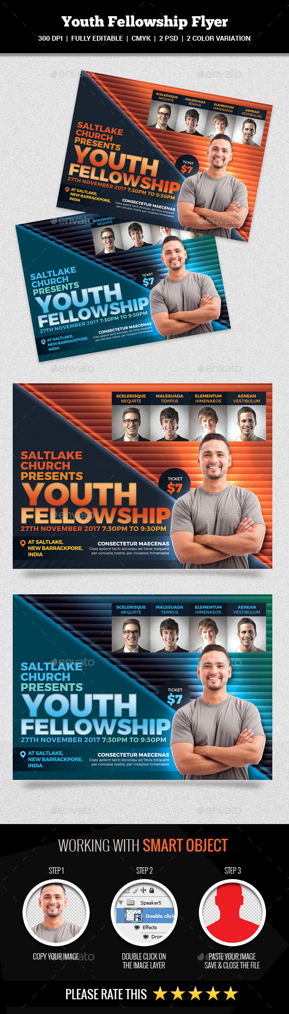 Youth Fellowship Flyer - Church Flyers
