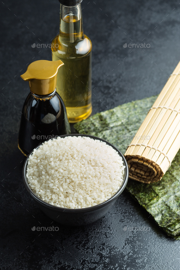 The sushi ingredients. - Stock Photo - Images