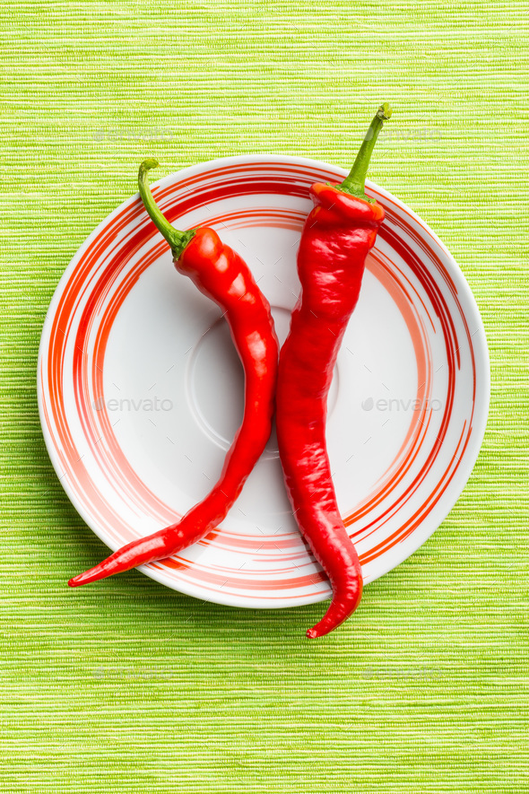 Red chili peppers. - Stock Photo - Images