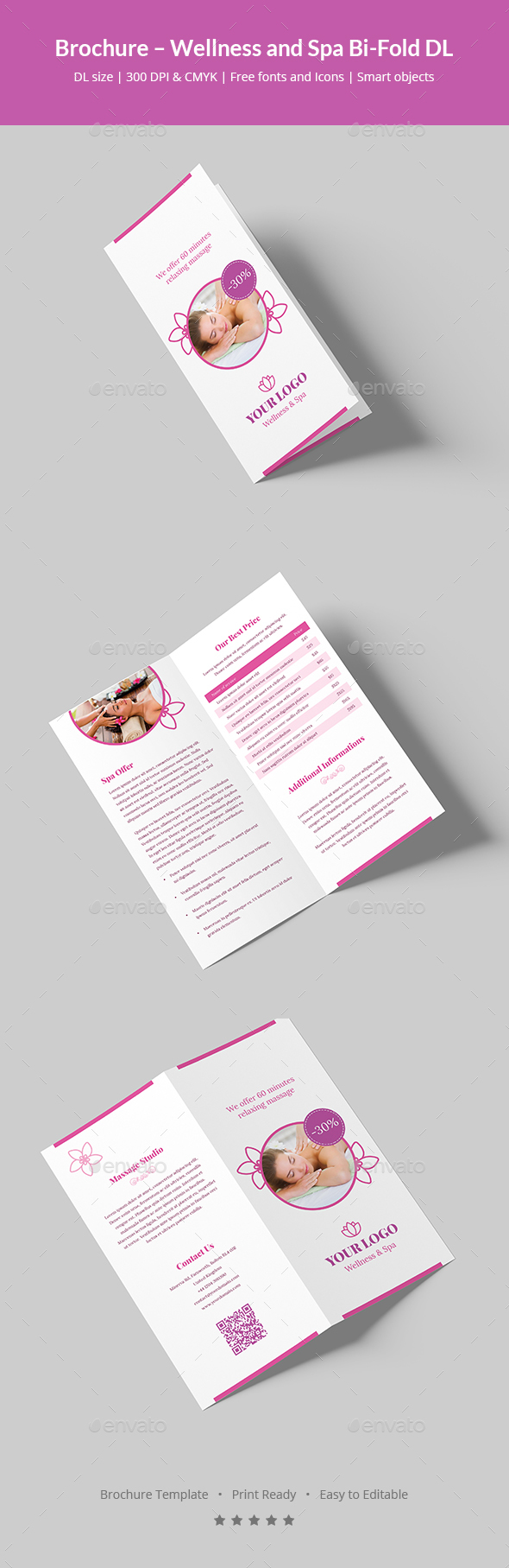 GraphicRiver Brochure Wellness and Spa Bi-Fold DL 20827298