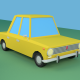 Low Poly Cartoon VAZ 2101