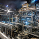 Chemical plant for production of ammonia on night time - PhotoDune Item for Sale