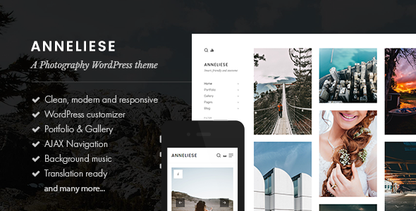 ThemeForest Anneliese A Photography WordPress Theme 20688642