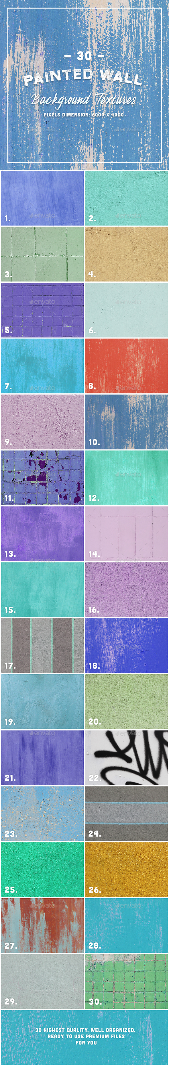 30 Painted Wall Background Textures - Industrial / Grunge Textures