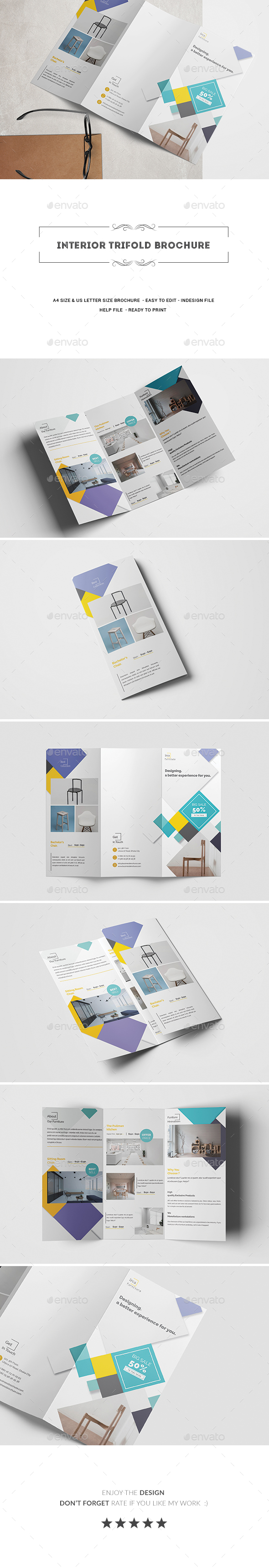 GraphicRiver Interior Trifold Brochure 20827596