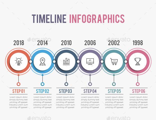 GraphicRiver Modern Timeline Infographics 20827702