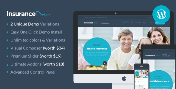 Insurance Agency WordPress Theme | Insurance Press - Corporate WordPress