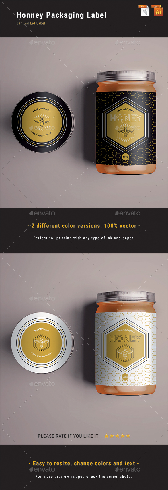 GraphicRiver Honey Packaging Label 20827993