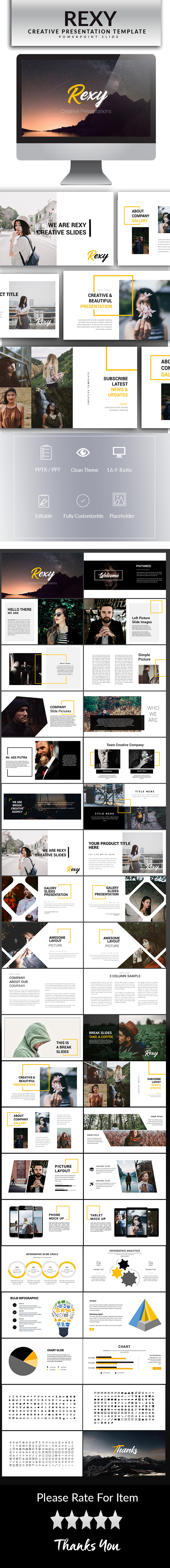 Rexy Powerpoint Template - PowerPoint Templates Presentation Templates